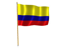 Colombian silk flag. Silk flag of Colombia vector illustration