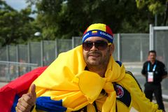 Colombian soccer fan Stock Photography