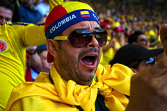Colombian soccer fan Stock Photo