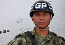 Colombian Soldier Royalty Free Stock Photography