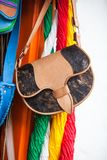 Colombian traditional leather satchel called Carriel. Colombian traditional leather satchel from the Antioquia Region called Carriel Royalty Free Stock Images