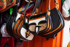 Colombian traditional leather satchel called Carriel. Colombian traditional leather satchel from the Antioquia Region called Carriel Royalty Free Stock Image