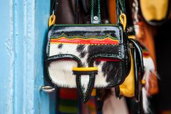 Colombian traditional leather satchel called Carriel. Colombian traditional leather satchel from the Antioquia Region called Carriel Stock Photography
