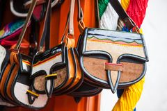 Colombian traditional leather satchel called Carriel. Colombian traditional leather satchel from the Antioquia Region called Carriel Royalty Free Stock Photos