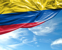 Colombian waving flag on a beautiful day Stock Photo