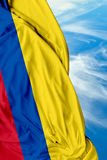 Colombian waving flag on a beautiful day Stock Photos