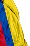 Colombian waving flag on white background Royalty Free Stock Image