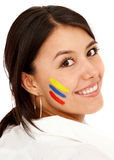 Colombian woman smiling Stock Image