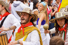 Colombians at Carnival Stock Photography