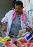 colombiansk fruktsäljare royaltyfri fotografi