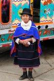 Colombiansk Guambiano infödd grupp Royaltyfri Bild