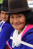 Colombiansk Guambiano infödd grupp Arkivbild