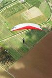colombianska fält över paraglideren Royaltyfria Bilder