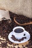 Colombianskt grillat kaffe med den vita koppen royaltyfri fotografi