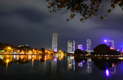 Colombo Beira Lake, Skyline And Modern Skyscrapers Royalty Free Stock Photo