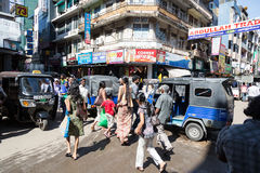 Colombo busy street Stock Photography