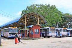 Colombo Central Bus Terminal, Sri Lanka imagens de stock royalty free