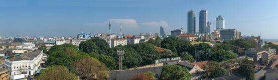 Colombo city big size panorama Royalty Free Stock Photo