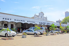 Colombo Fort Railway Station Royalty Free Stock Photography