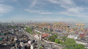 colombo harbor stock video footage