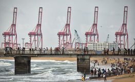 Colombo Harbor International Container Terminals Royalty Free Stock Image