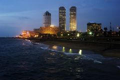 Colombo at night Royalty Free Stock Images