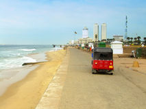Colombo skyline and Galle Face beach, Sri Lanka Stock Image