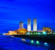 Colombo Skyline, Sri Lanka. Colombo Skylinet at night, Sri Lanka Royalty Free Stock Image