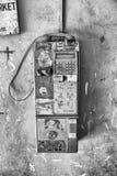 Colombo, Sri Lanka - 15 février 2017 : Le vieux téléphone public Photographie stock libre de droits