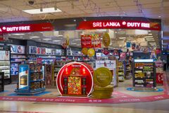 On the duty free store on the Airport. Colombo
