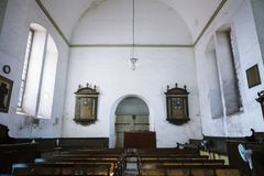 Colombo, Sri Lanka - 11 February 2017: Interior of Wolvendaal Church - a Dutch Reformed Christian Colonial VOC Church. In Colombo, Sri Lanka - Asia Royalty Free Stock Photos