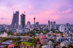 Colombo Sri Lanka skyline cityscape stock photography