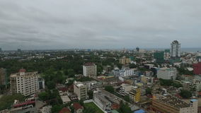 Colombo srilanka aerial video stock video footage