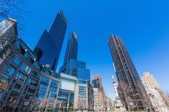 Colombus Circle Manhattan Landmarks New York stad USA arkivfoto