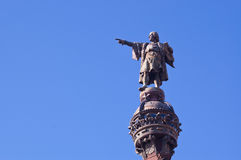 Colombus statue. Colombus Monument in Barcelona, Spain Stock Image