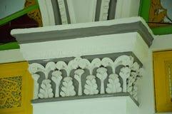 Colomn detalj på Abidin Mosque i Kuala Terengganu, Malaysia Arkivbild