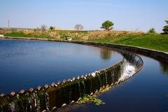 Colon à l'usine de traitement des eaux résiduaires Image libre de droits