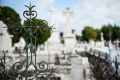 Colon Cemetery, Havana. He Colon Cemetery, or more fully in the Spanish language Cementerio de Cristóbal Colón, was founded in 1876 in the Vedado neighbourhood Royalty Free Stock Photography