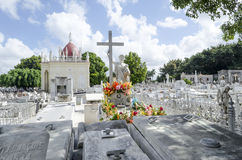 The Colon Cemetery in Vedado on 29 November 2015 in Havana, Cuba Royalty Free Stock Photo
