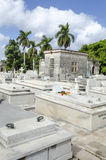 The Colon Cemetery in Vedado on 29 November 2015 in Havana, Cuba Royalty Free Stock Images