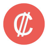 Colon currency symbol icon. Image,  illustration Royalty Free Stock Photo