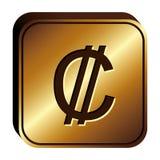 Colon currency symbol icon Stock Image