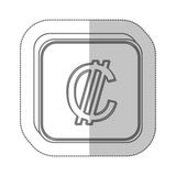 Colon currency symbol icon. Image,  illustration Royalty Free Stock Image