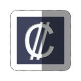 Colon currency symbol icon. Image,  illustration Stock Images
