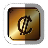 Colon currency symbol icon. Image,  illustration Royalty Free Stock Photography