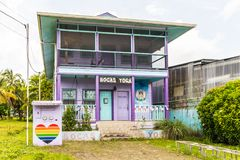 A typical view in Bocas Del Toro royalty free stock photos