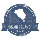 Colon Island logo sign. Stock Image