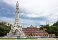 Colon Monument and Casa Rosada Stock Image