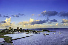 Colon Panama. The harbor at Colon, Panama with the city in the background Royalty Free Stock Photo