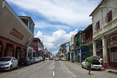 Colon Panama street view. June 9, 2016 Colon, Panama: street view of the port town, the murder rate is on the rise with the decline of economy stock photo